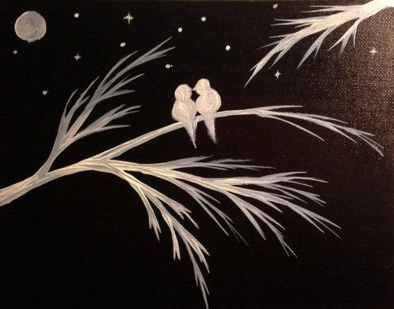 Black And White Acrylic Painting Canvas From Preethiart Canvas
