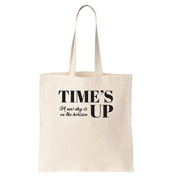 Time's Up - A New Day is on the Horizon Cotton Tote Bag