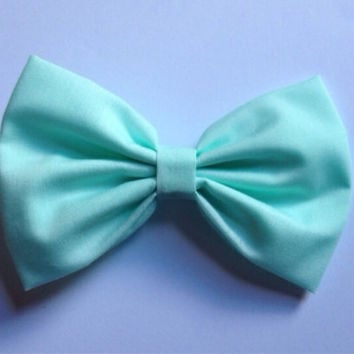 Cute Mint Green Pastel Hairbow Hair Bow Kitsch Kawaii Fairy Kei Seafoam accessories