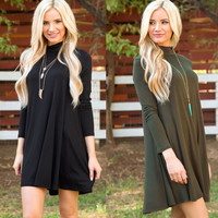 High Neck Shirt Dress