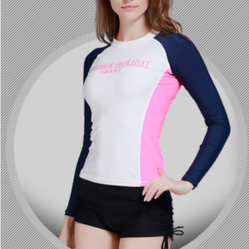 New Arrival Women's Long Sleeve Rash guard Surfing Wetsuit Jacket High Stretch Scuba Diving Skin Jacket Beach Volleyball Swimwar