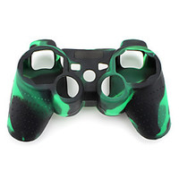 [NewYearSale]Protective Camouflage Style Silicone Case for PS3 Controller (Green and Black) - Default