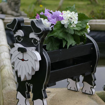 Schnauzer Planter. Garden Ornaments. Garden Decorations. Dogs. Pets. Handmade.