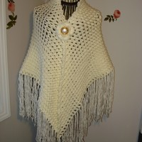 Crochet Shawl Pattern/ Introducing Handmade Crochet 3D PATTERN SCARF/SHAWL- All Seasons /You have my permission to sell your finished items