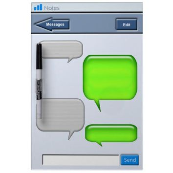 Cell Phone Text message Novelty Dry-Erase Whiteboard from Zazzle.com