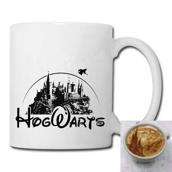hogwarts castle as disney castle  mug coffee, mug tea, size 8,2 x 9,5 cm