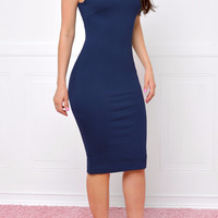 The New Navy Midi Dress