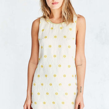 Ecote Sunny Embroidered Mini Shift Dress - Urban Outfitters