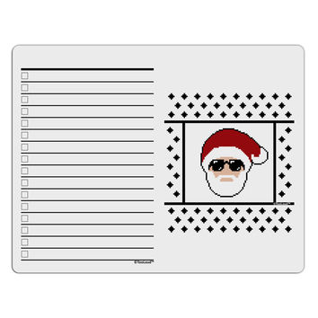 Cool Santa Christmas Sweater To Do Shopping List Dry Erase Board