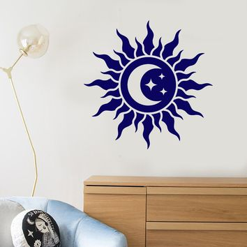 Vinyl Wall Decal Abstract Moon Star Sun Baby Room Decor Stickers (2422ig)