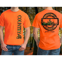 Country Life Outfitters Big Buck Deer Hunt Vintage Unisex Orange Bright T Shirt