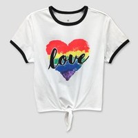 Pride Adult Love Wins Ringer T-Shirt
