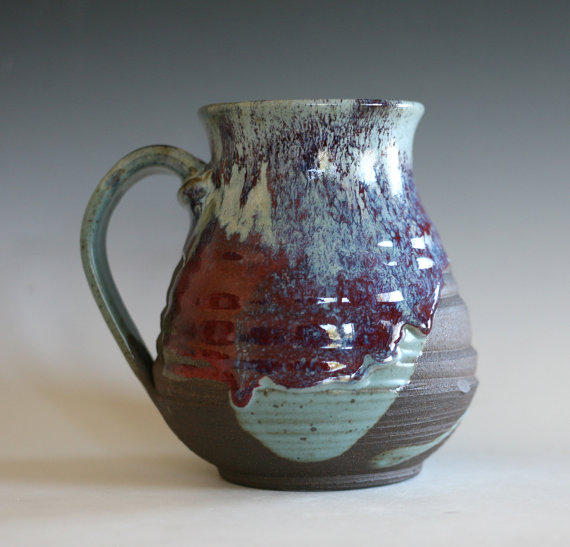 Extra Large 32 Oz Coffee Mug Handthrown From Ocpottery On