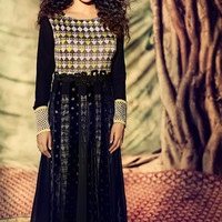 Black Anarkali Suit with Zari Work
