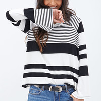 Stripped Pullover Sweater