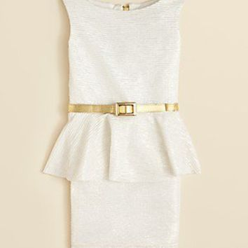 Zoe Girls' Sleeveless Peplum Dress - Sizes 7-16 | Bloomingdale's