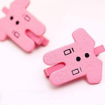 Pink Girl Baby Shower Wooden Pegs / Wood Stationery / Party Wedding / Gift Wrapping bag closure Scrapbooking Craft /Mini Peg 50pcs