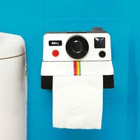Retro Polaroid Camera Toilet Paper Dispenser