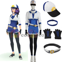 Pokemon GO Cosplay Costume Halloween costumes for adult women Pokemon go team Pocket Monster game Female Trainer Costume hat
