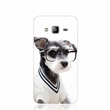 Schnauzer Cute Pet Lovely Puppy Dog cell phone case cover for Samsung Galaxy