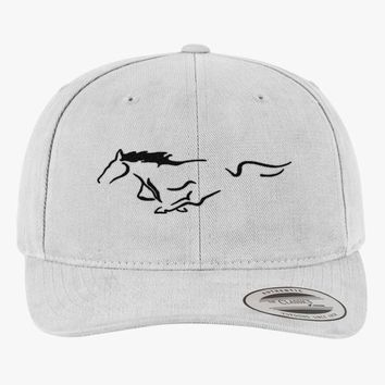 Mustang Horse Brushed Embroidered Cotton Twill Hat