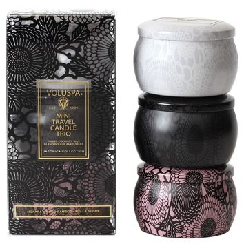 VOLUSPA Mini Travel Candle Trio