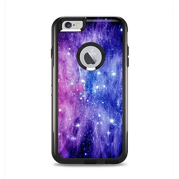 The Purple and Blue Scattered Stars Apple iPhone 6 Plus Otterbox Commuter Case Skin Set