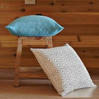 Hand-Blocked Chevron Pillow Covers | west elm