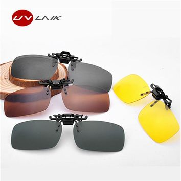 Men/ Women Retro Flip Up Polarized Sunglasses Clip On Myopia Glasses
