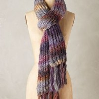 Keene Oversized Scarf by Anthropologie Purple Motif One Size Scarves