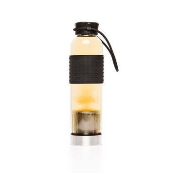 BPA Free Glass Tea Infuser Bottle by Brouk & Co