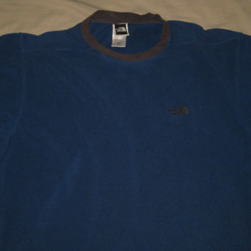 The North Face Casual Sweater blue Sweat Shirt Training Warm up Running Size Medium