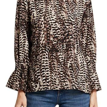 Veronica M Animal Printed Top