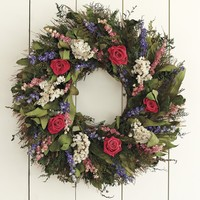 Garden Rose Wreath