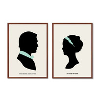 BLAIR CHUCK | Say It And I'm Yours Poster : Modern Illustration Gossip Girl TV Series Retro Art Wall Decor