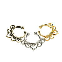 Variety Fake Septum Nose Rings Crystal Gold Faux Piercing Nose Studs Body Hoop Nose Ring For Women Septum Clip Jewelry Hot Sale