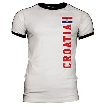 World Cup Croatia Mens Soccer Jersey T-Shirt
