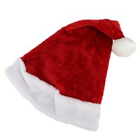 """17"""" Traditional Red and White Plush Christmas Santa Hat - Adult Size Large"""