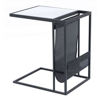A11557 Magazine Rack Table Black