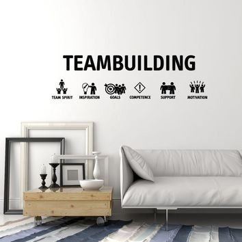 Vinyl Wall Decal Teambuilding Team Inspiration Office Decoration Idea Stickers Mural (ig5536)