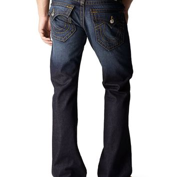 True Religion Hand Picked Bootcut Red Orange Stitch Mens Jean - Lonestar 40x34