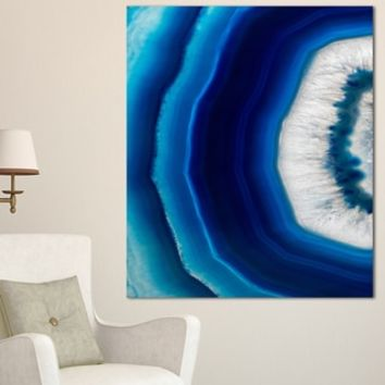 Blue Agate Crystal - Abstract Digital Art Canvas Print - Free Shipping On Orders Over $45 - Overstock.com - 18984532 - Mobile