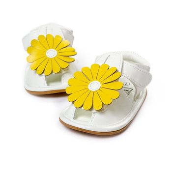 Summer Baby Girls Sandals Shoes Toddler Infant Children Kids Flower Shoes Hot