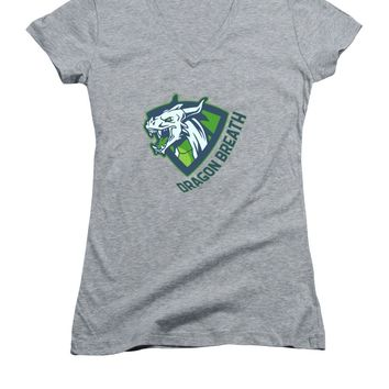 Dragons Breath - Women's V-Neck (Athletic Fit)