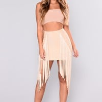 Private Parties Bandage Skirt - Sand