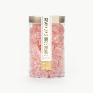LOLLI AND POPS SPARKLING ROSE CHAMPAGNE GUMMI BEAR TUBE