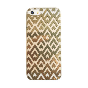 Gold Chevron iPhone 6 Case