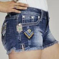 Peace Knitted Pattern Grace In LA Shorts