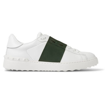 Valentino - Striped Leather Low Top Sneakers | MR PORTER