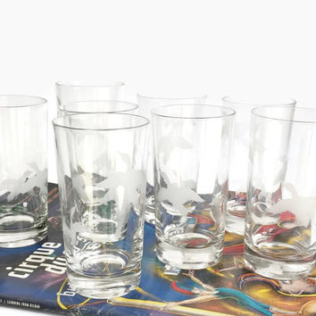 Vintage Hi Ball Glasses - Duck Motif, Glasses with Ducks, Wildlife Motif Glasses, Vintage Tumblers, Gift for Hunter, Hunting Lodge Decor